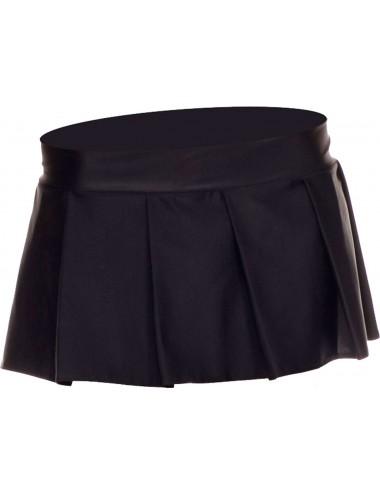 Lingerie - Robes et jupes sexy - Mini jupe plissée, uni - ML25075BLK - Music Legs