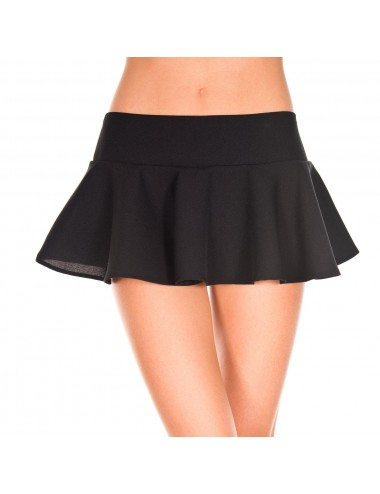 Lingerie - Robes et jupes sexy - Mini jupe évasée - ML181BLK - Music Legs
