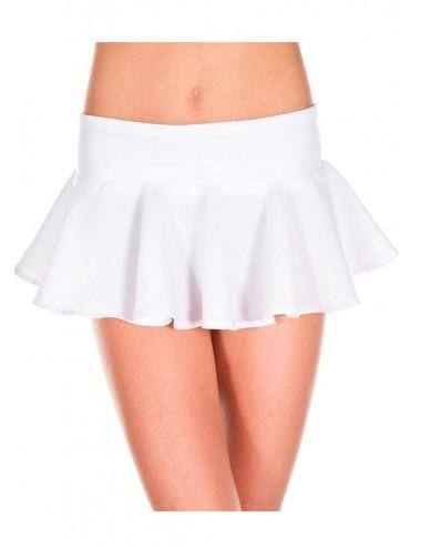 Lingerie - Robes et jupes sexy - Mini-jupe évasée volante blanche - ML181WHT - Music Legs