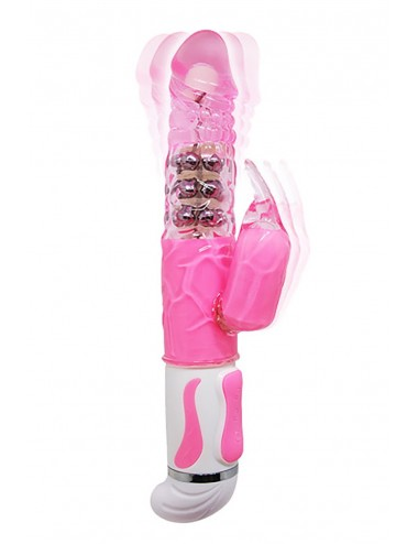 Sextoys - Rabbits - Vibromasseur Rabbit rose intenses avec 12 fonctions de vibration - CC530322 - Pretty Love