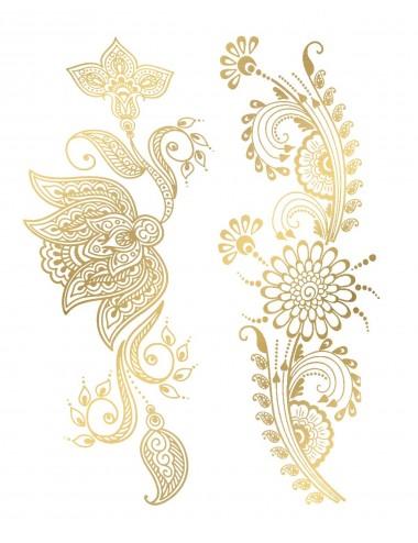 Sextoys - Accessoires - Tatouage éphémère figure artistique effet or TAGold 16 - Temporary Tattoo