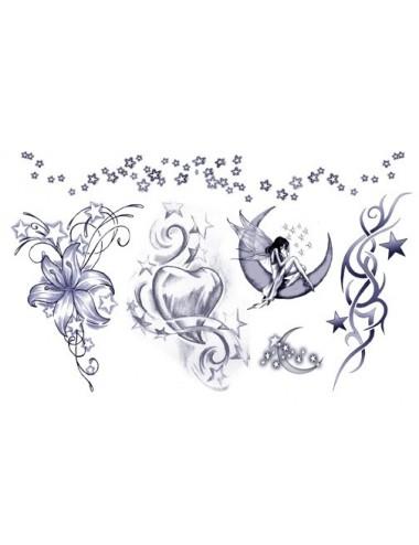 Sextoys - Accessoires - Tatouage éphémère figure artistique Plaque de 5 tattoos TAFantasy 2 - Temporary Tattoo