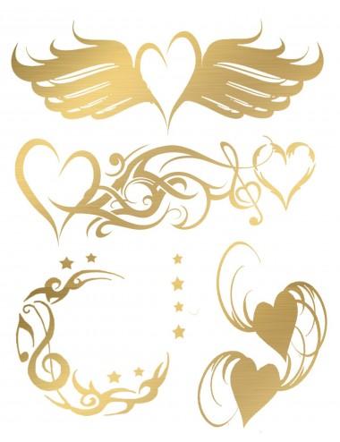 Sextoys - Accessoires - Tatouage éphémère figure artistique effet or TAGold 12 - Temporary Tattoo