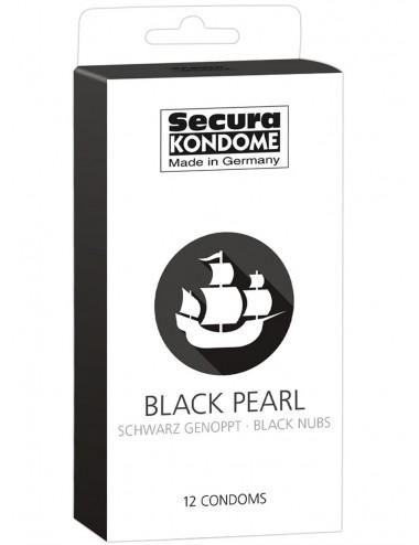 Préservatifs lubrifiés noirs avec réservoir Boîte de 12 - ORI4162310000 - Plaisirs Intimes -
