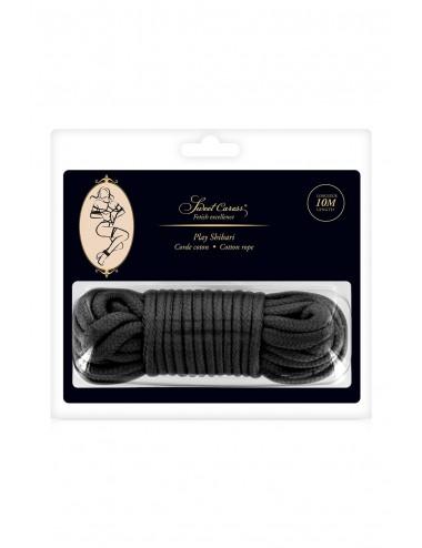 Sextoys - Bondage - SM - Corde de bondage très douce et soyeuse shibari noire 10M - CC5700922010 - Sweet Caress