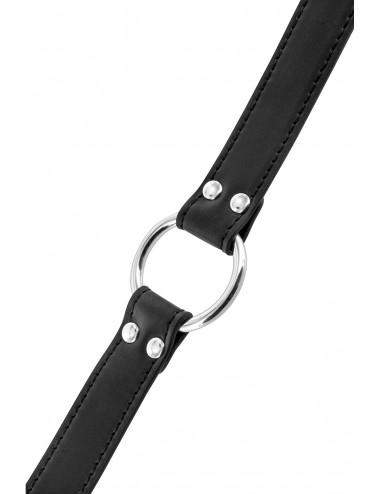 Sextoys - Bondage - SM - Bâillon écarteur de bouche anneau en métal tour de cou réglable - CC6060270010 - Fetish Tentation