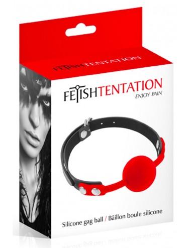 Sextoys - Bondage - SM - Baillon à boule rouge en silicone réglable - CC5700630030 - Fetish Tentation