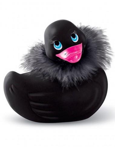 Sextoys - Masturbateurs & Stimulateurs - Canard vibrant noir avec fourrure et Swarovski - CC504015 -