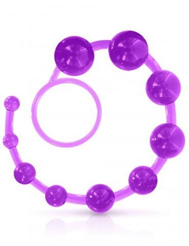 Chapelet anal souple violet - CC570032