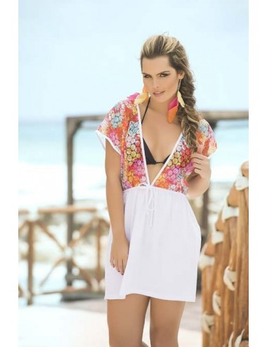 Cover Up Robe de plage - FAMP7758WHT