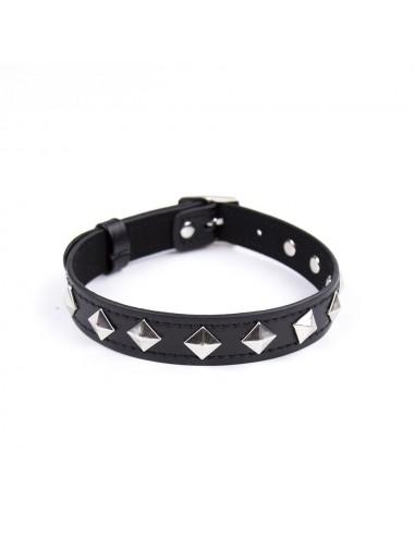 Sextoys - Bondage - SM - Collier noire Bdsm réglable avec déco en méta - 262412081 - Dreamy Fetish