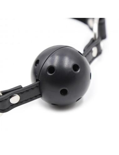 Sextoys - Bondage - SM - Baillon noire en simili cuir pour le jeux BDSM et bondage - 222412007 - Dreamy Fetish