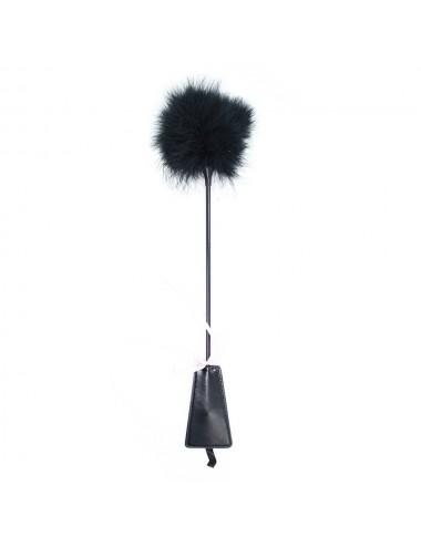 Sextoys - Fouets & Cravaches - Cravache bondage noire et plumes de 49 cm - 272411101 - Dreamy Fetish