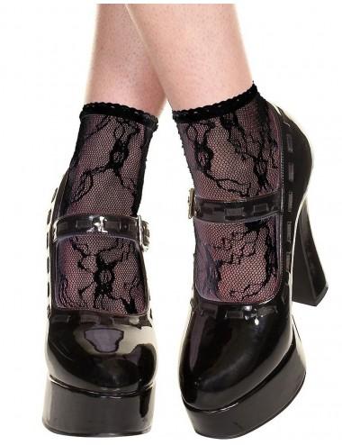 Lingerie - Bas - Socquettes noires en dentelle - MH571BLK - Music Legs