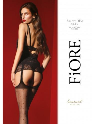 Lingerie - Collants - Amore Mio Collants 20 DEN - Noir - Qualité premium - Fiore
