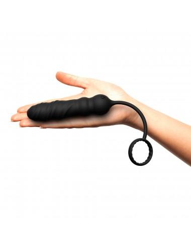 Sextoys - Plugs - Plug Anal et Cockring Deep Seeker couleur noir - DO-5584 - Dorcel