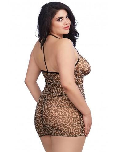 Nuisette grande taille imprimée léopard - DG11842XLEO