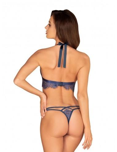Lingerie - Ensembles de lingerie - Ensembe de lingerie Flowlace 2 pièces - Bleu - Obsessive - OB-5527 - Obsessive