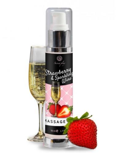 Huile de massage Fraise et Vin pétillant 3683 - 50 ml - Huiles de massage - Secret Play
