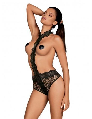 Lingerie - Bodys - Crossita Body - Noir - Obsessive