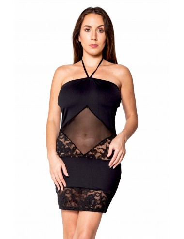 Lingerie - Robes et jupes sexy - Robe bustier maille et dentelle - LDR2 - Look Me Dress