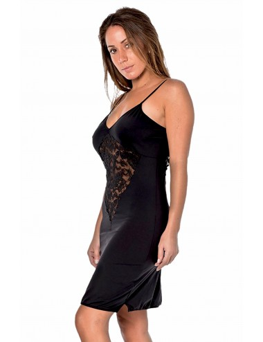 Lingerie - Robes et jupes sexy - Robe cocktail noire empiècements dentelle - LDR11 - Look Me Dress