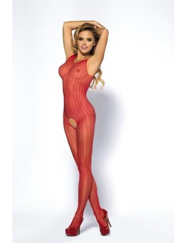Lingerie - Combinaisons - Bodystocking sexy rouge avec large ouverture sur l'entrejambe Joyce - Anaïs