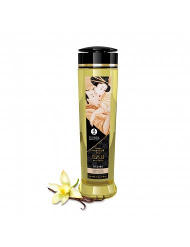 Huile de massage érotique - Désir - Vanille - 240 ml - Huiles de massage - Shunga