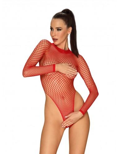 Lingerie - Bodys - B126 Body - Rouge - Obsessive