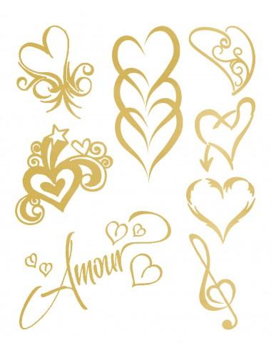 Sextoys - Accessoires - Tatouage éphémère figure artistique Effet or Love Tattoo - TAGold 11 - Temporary Tattoo