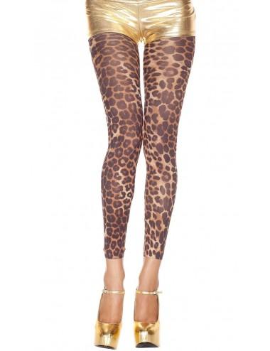 Lingerie - Leggings Sexy - Legging fin voile imprimé léopard - MH35804LEO - Music Legs