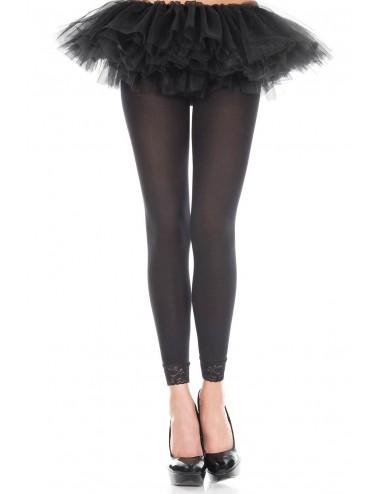 Lingerie - Leggings Sexy - Legging fin voile noir - MH7479BLK - Music Legs