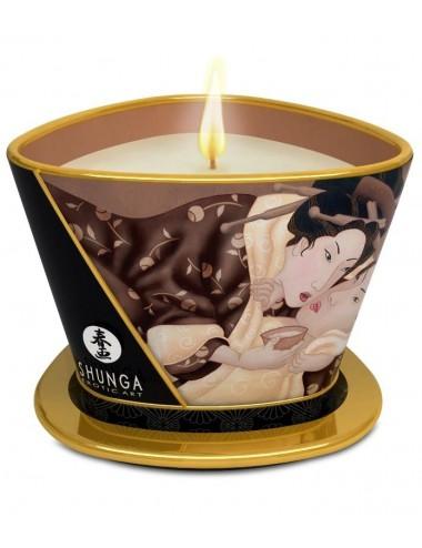 Bougie de massage lueur et caresses en Chocolat Enivrant - Bougies de massage - Shunga