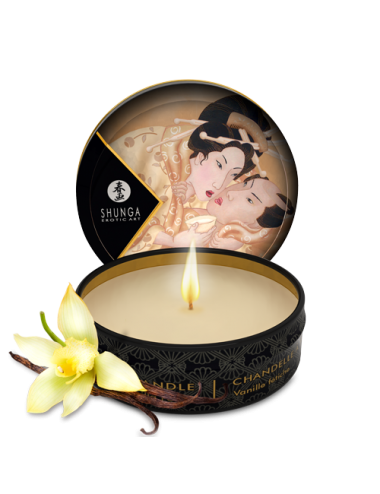 Mini bougie de massage - Désir vanille - Bougies de massage - Shunga