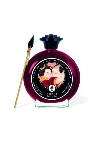 Peinture de corps embrassable - Vin pétillant à la fraise - Peintures de Corps - Shunga