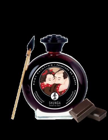 Peinture de corps embrassable Chocolat noir - SH2-01074 - Peintures de Corps - Shunga