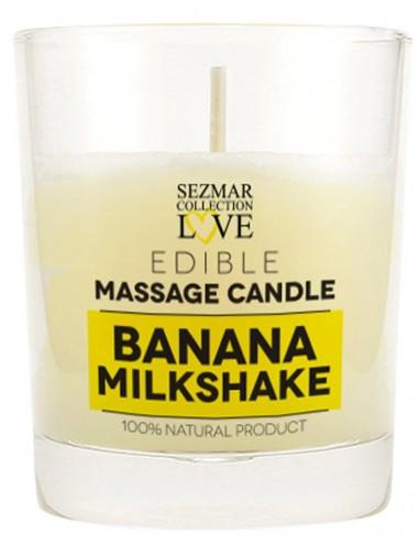 Bougie de massage milshake banane 100ml - SEZ047 - Bougies de massage - SEZMAR