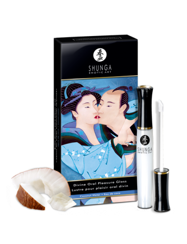 Gloss pour plaisir oral divin - Eau de coco - Plaisirs Intimes - Shunga