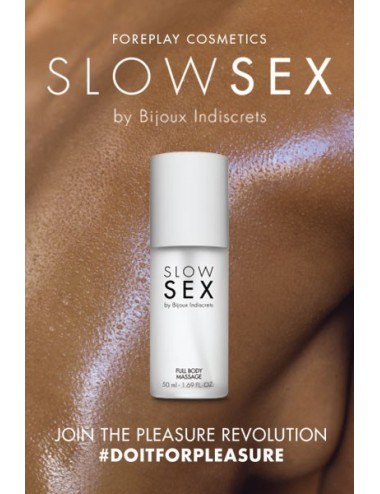 Gel de massage - Slow Sex - 50 ml - Huiles de massage - Bijoux Indiscrets