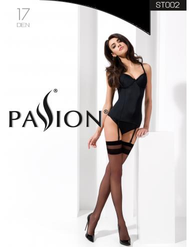 Lingerie - Bas - Bas sexy noire pour porte jarretelles classique17 DEN ST002 - Passion Lingerie