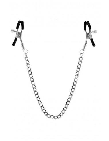 Chaîne pinces à seins 45cm embouts de protection - CC570046