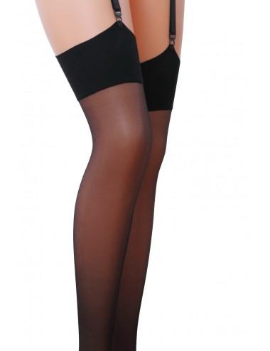 Lingerie - Bas - Bas sexy noire avec pieds renforcée 17 DEN ST001 - Passion Lingerie