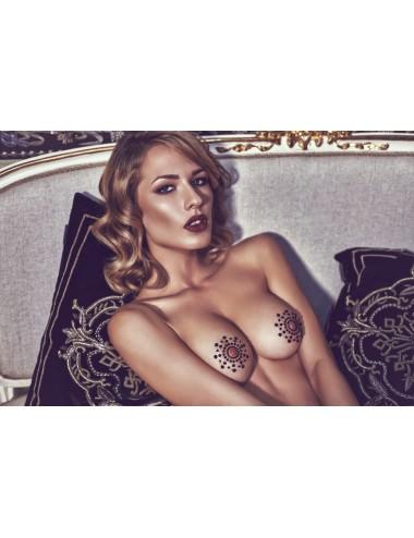Sextoys - Accessoires - Bijoux sensuelle de sein strass noire kallea - an-3887 - Anaïs