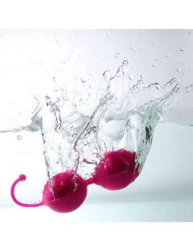 Sextoys - Boules de Geisha - Boules de Geisha Rose en silicone très douce - KOB004PNK - Dreamy Toys