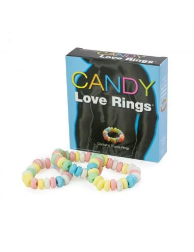 Lot de 3 cockrings bonbons Candy et élastiques - CC501007