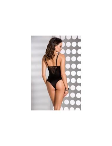 Lingerie - Bodys - Body en satin mate et dentelle délicate avec armatures Lauren - L-XL -