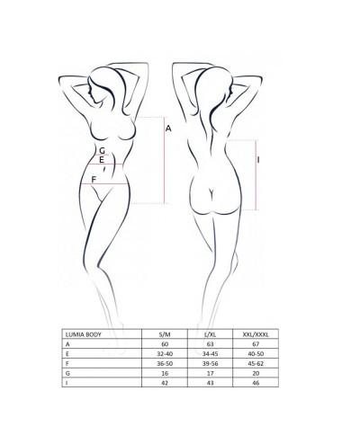 Lingerie - Bodys - Body Noire en micro résille légèrement translucide Lumia - XXL-XXXL - Passion EroticLine