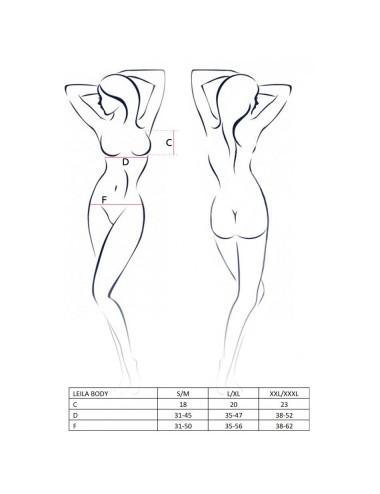 Lingerie - Bodys - Body noire ultra sexy ouvert sur les seins et dos dénudés Leila - L-XL - Passion EroticLine