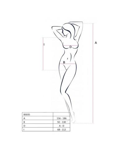 Lingerie - Bodys - Body blanc sexy ouvert sur votre intimité BS035 - TU - Passion EroticLine