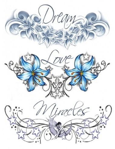 Tatouage éphémère - Plaque de 3 tattoos  - TATribal 11